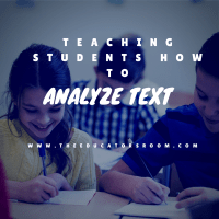 Teaching Students How to Analyze Text