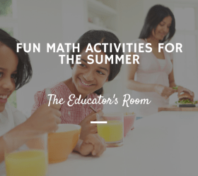 Fun math activities for the summer