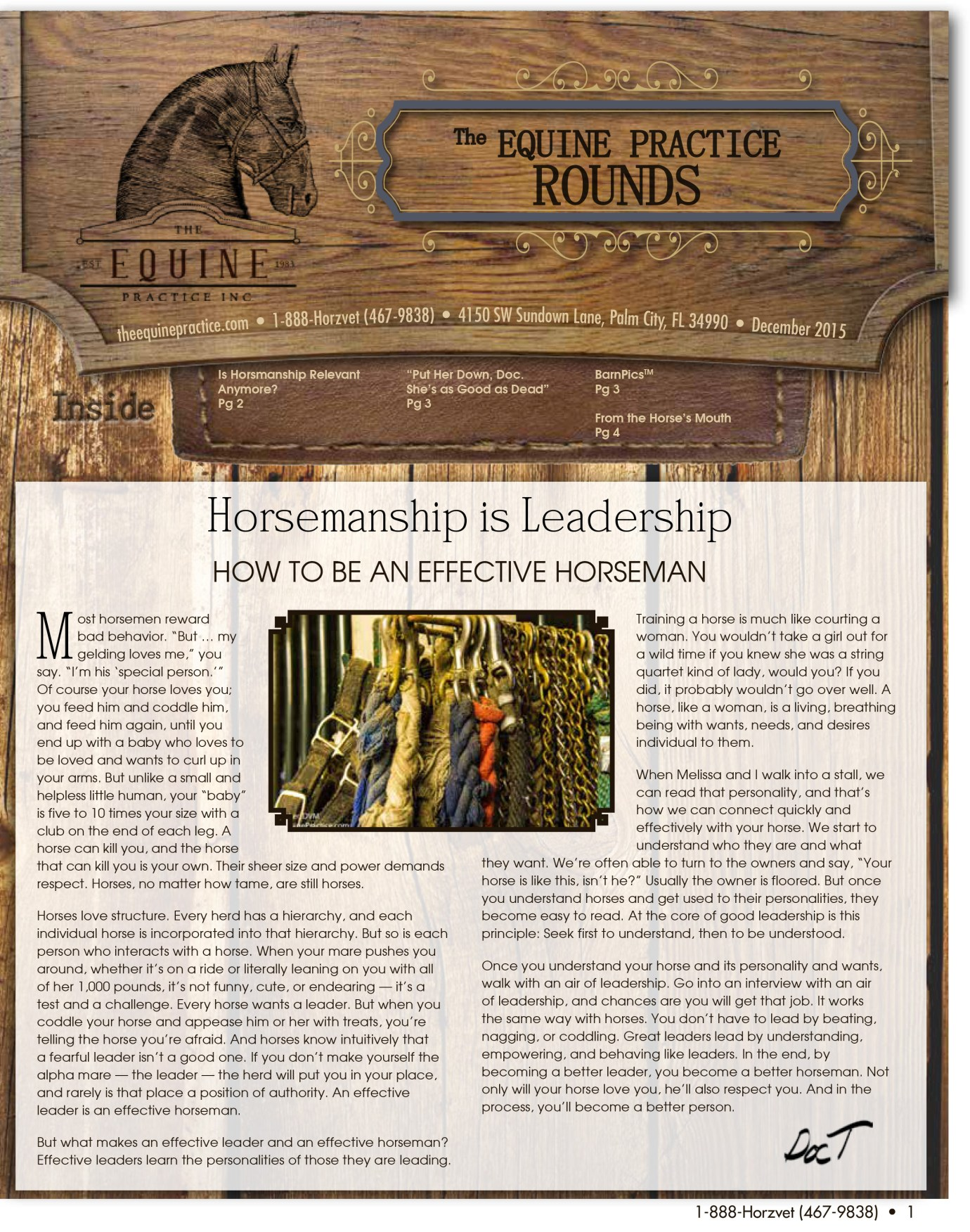 The Equine Practice Rounds™ December 2015 page 1 of 4