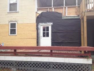 grout cottage back door