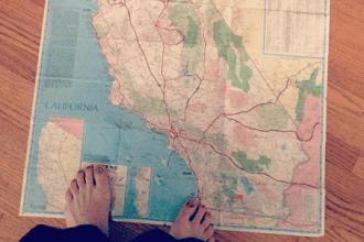 California Travel Map Betsy Moyer