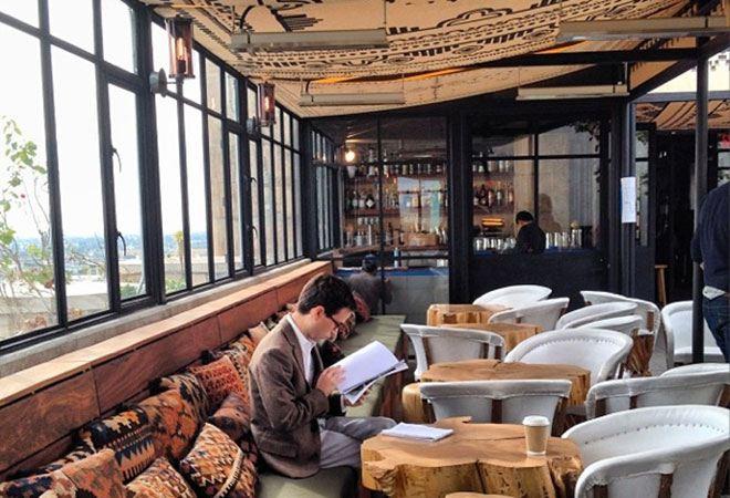 global textile pillows Ace Hotel LA