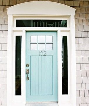 blue wythe door