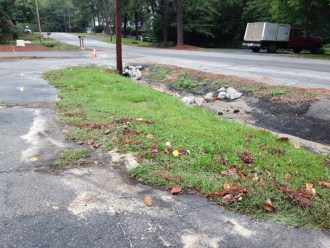 West Conn front yard before
