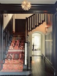 kilim covered stair runner