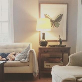 Laney Sleeping at Sarahs House