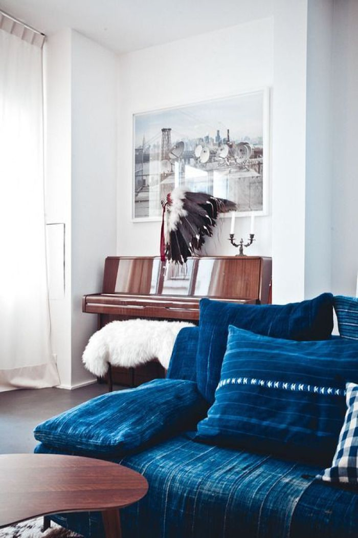african indigo pillows sofa