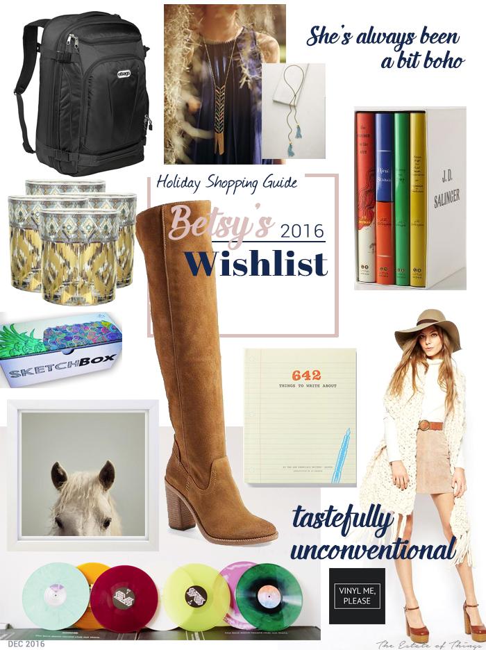 Betsy's Christmas Wishlist