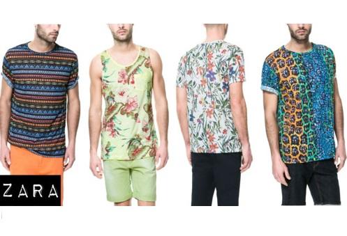 ZARA Men s summer 2013 printed Zara Man Printed Shirts