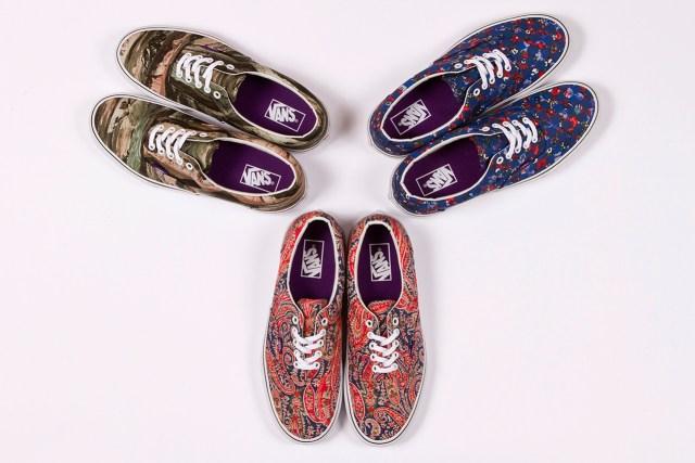 Liberty London 2013 printed Vans sneakers pack