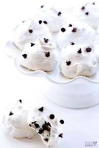 Chocolate Chip Meringues for Valentine's Day