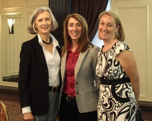 Keynote speaker Paula Sheppard, CEO of NLOWE on the right, with Sharon Horan, CEO of the St. John's Board of Trade, with our founder Susan Sparkes