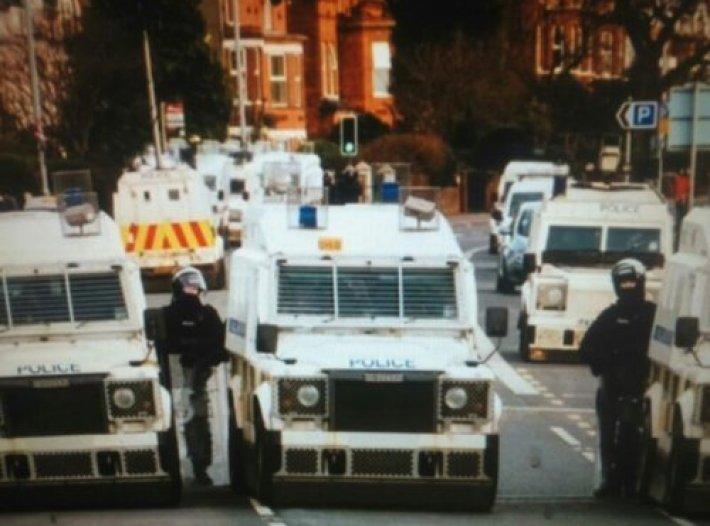 BelfastPolice Vehicles Blockade Road OverUFOCrash?