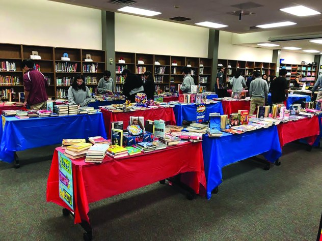 The book fair at Landrum Middle School. Photo courtesy by Kate Carmain