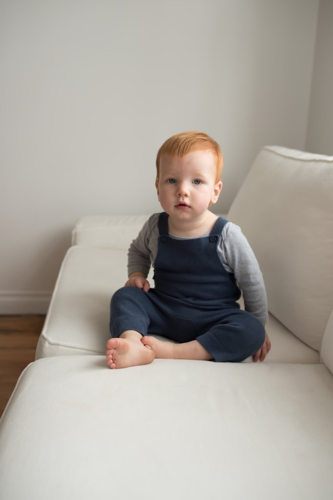 family photos - old navy knit overalls