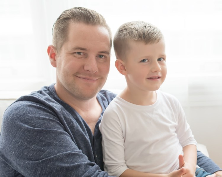 father and son - family photos with natural light