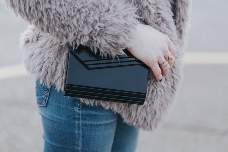 Jimmy Choo Black Candy Clutch - The Family Jewels