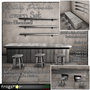 Frogstar - Salty Pirate Tavern Set Poster (Sun-Bleached)