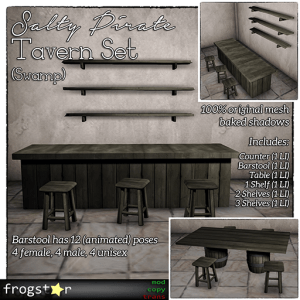 Frogstar - Salty Pirate Tavern Set Poster (Swamp)