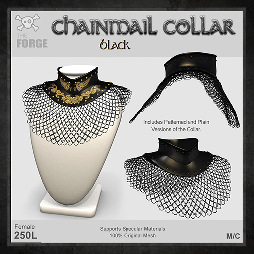 Forge-Chainmail-Collar-Black