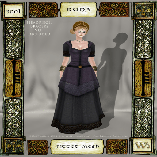 Norse-Marshes-Fitted-Mesh-Gown-Set-Runa