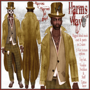 Harm's Way Bayou Baron in gold ad