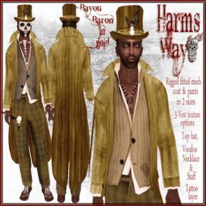 Harm's Way Bayou Baron in gold ad