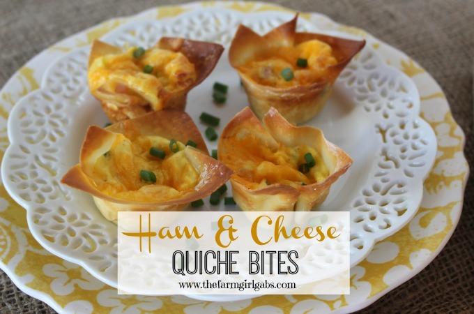 Ham & Cheese Quiche Bites - www.thefarmgirlgabs.com