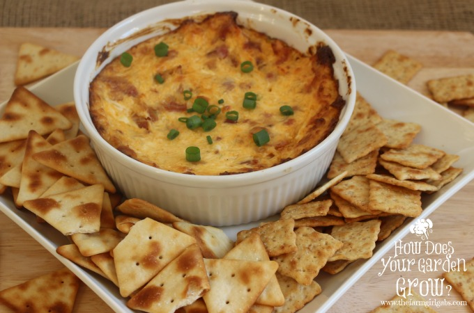 Spicy Swiss & Bacon Dip served with Town House Crackers is perfect for holiday entertaining. #WaysToWow