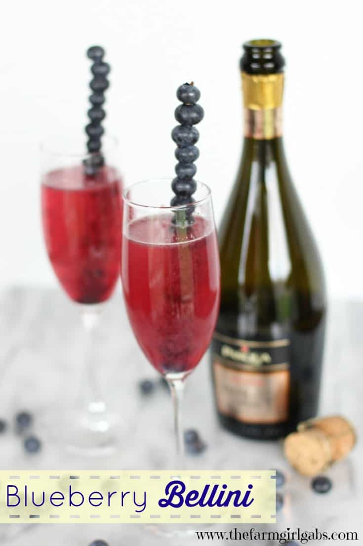 This Blueberry Bellini is the perfect drink to toast the start of ...