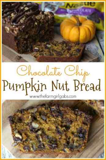 Crisp days and cool nights are a perfect reason to celebrate fall with this Chocolate Chip Pumpkin Nut Bread. [Ad} #FallidayFaves #NestleTollHouse