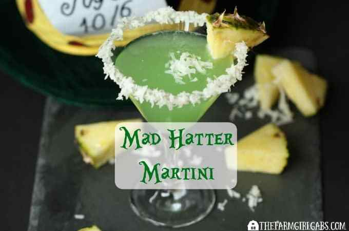 You'll go crazy over this Mad Hatter Martini. This cocktail recipe is inspired by the Disney character played by Johnny Depp.