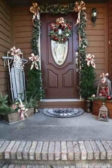 10 ways to decorate your porch for christmas the farm girl gabs