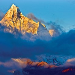 Mt. Kawagebo, the major peak of Meili Snow mountains. It is one of the holiest mountains among Tibetans