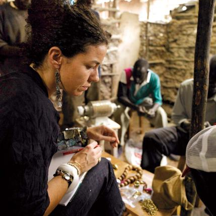 Pippa Small visits a workshop in in Kibera, Nigeria's largest slum, in 2010