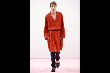 J.W. Anderson | Skimpy knits, blousy belted robes and off-duty pinstripes make up the designer's most wearable collection yet.