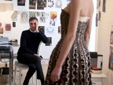 Designer Raf Simons working on his first Dior couture collection in 'Dior and I'