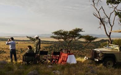 On safari at Singita Sasakwa Lodge in Tanzania