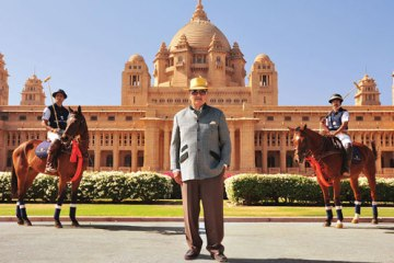 His Highness Maharaja Gaj Singh II of Marwar-Jodhpur at the Umaid Bhawan Palace