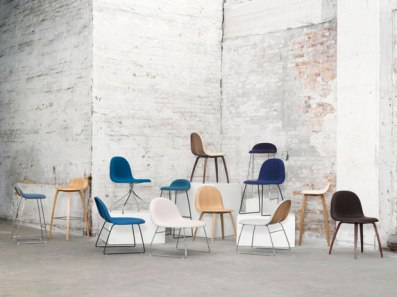 THE GUBI chair range is designed to be used in a variety of situations