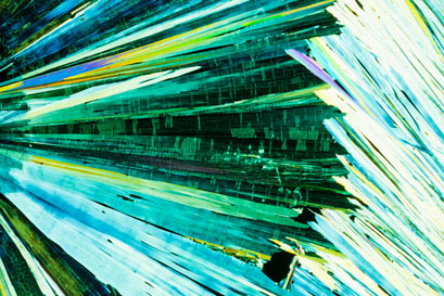 Carbamide crystals in polarized light
