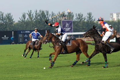 Team play during the 2014 China Open Polo Tournament sponsored by Royal Salute