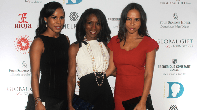 Michelle Helmer (left), Shevanne Helmer (center) and Danielle Helmer (right) looked smashing on the red carpet of the Global Gift Gala held in London, UK.