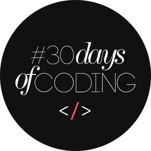 30 days of coding