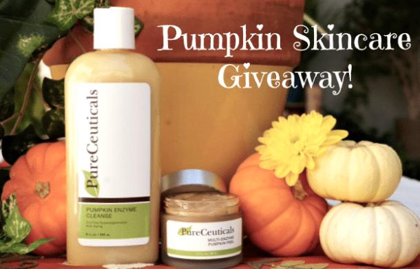 PureCeuticals Pumpkin Skincare Giveaway