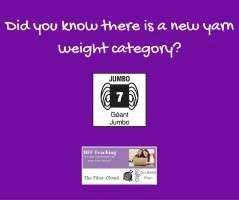 Did you know there is a new yarn weight category_