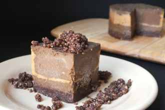 Raw Chocolate Peanut Butter Tart [Vegan, Gluten-Free, Raw, Dairy-Free]