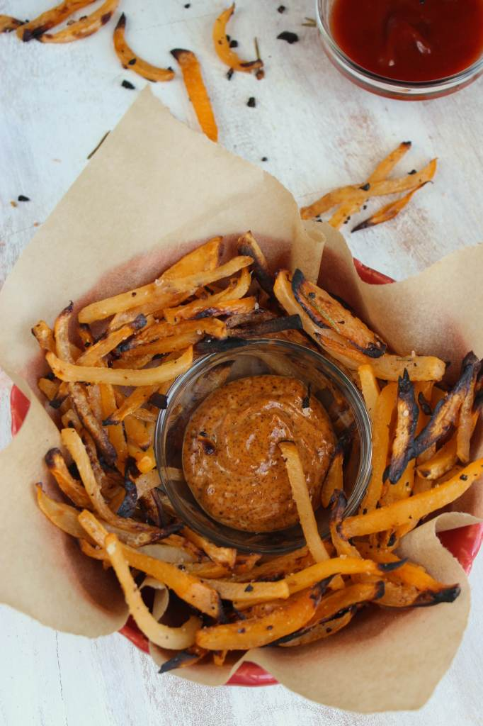 Rosemary Lemon Garlic Rutabaga Fries