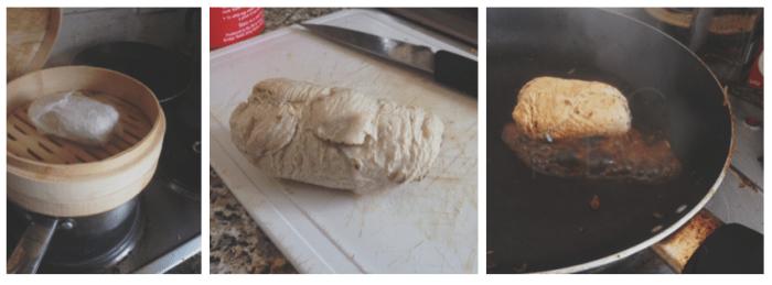 poulet roulé vapeur