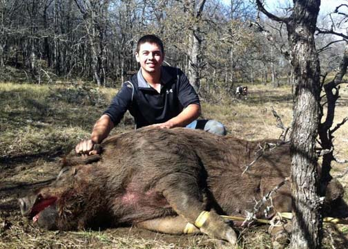 Prior to bagging this 790-pound boar hog the biggest animal Blaine Garcia had taken weighed around 450 pounds.
